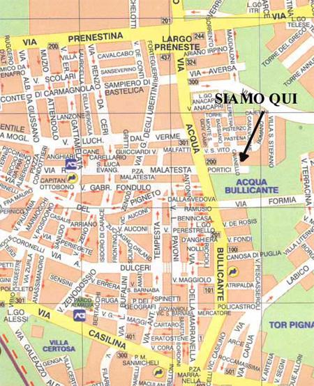 Cartina Roma Est.Togra Audiopro Assistenza Cablaggi Vendita Audio Professionale